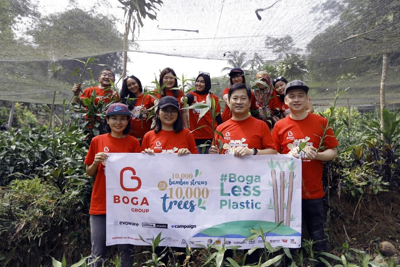 10,000 bamboo straws for 10,000 trees with Boga Group